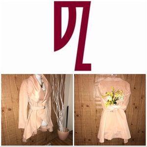 NWT!! Double Zero blush colored flare coat small
